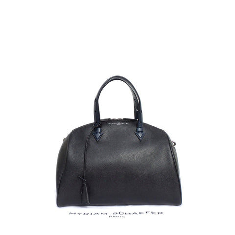 PERRIN Paris Le Rond Épaule Black Bone Beige Calf Leather SHW Shoulder Bag $1950