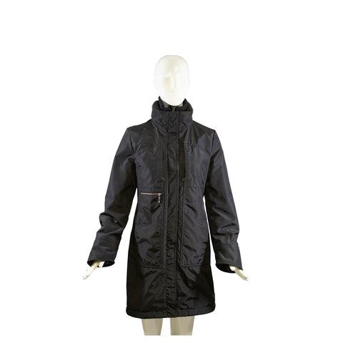 'Sold' $4350 LORO PIANA Black Cashmere Storm System Front Zip Toggle Ski Jacket Parka Coat 42