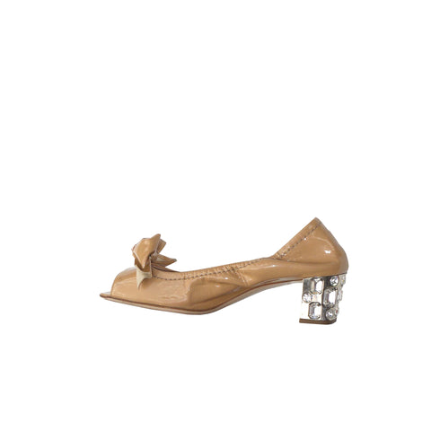 Chloé Brown Leather and Wood Wedge Sandals (Size 36)