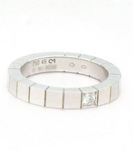 CARTIER Lanières White Gold with Diamond Ring 5, EU 49