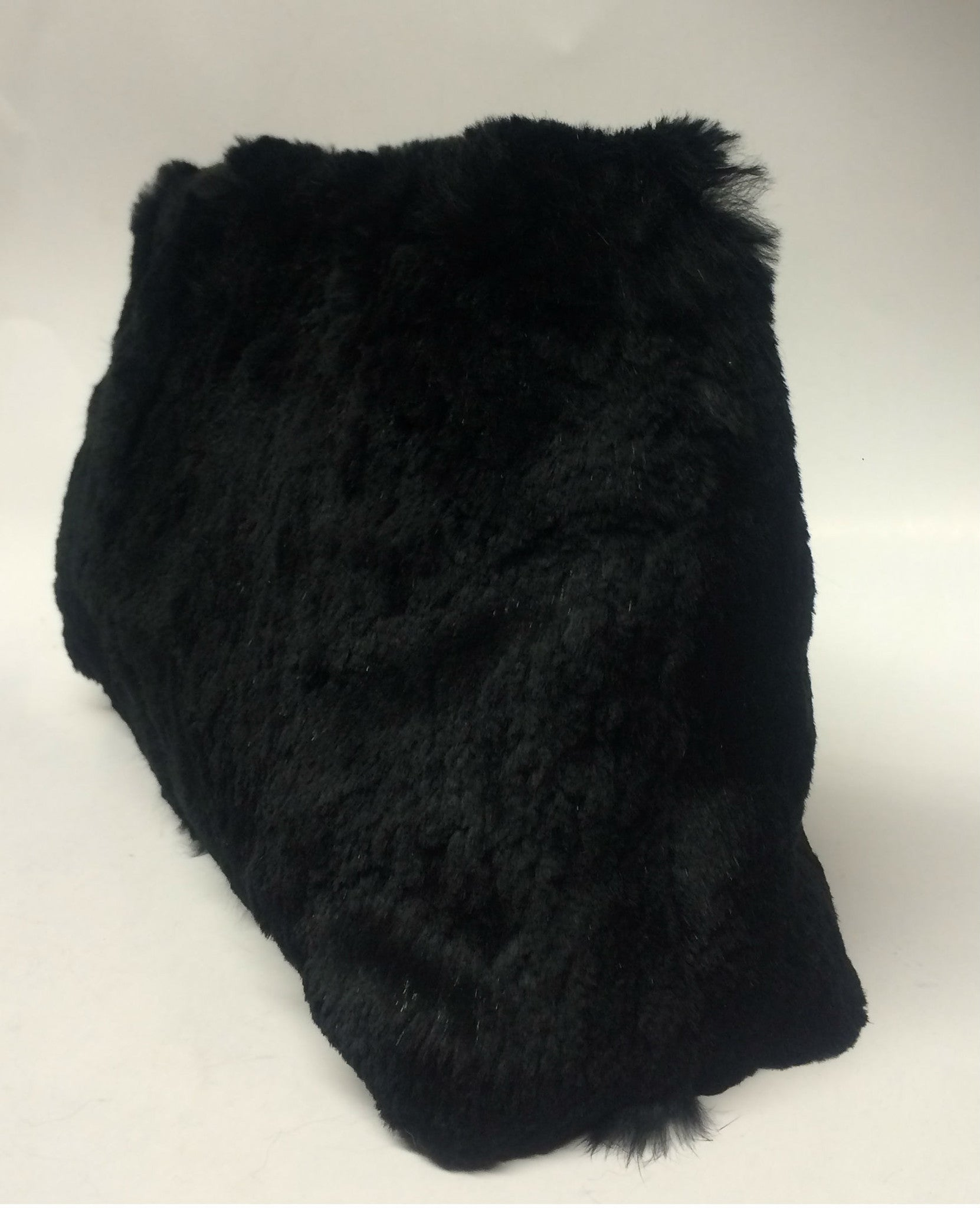 Chanel Black Rabbit Fur Bag - Encore Consignment - 3