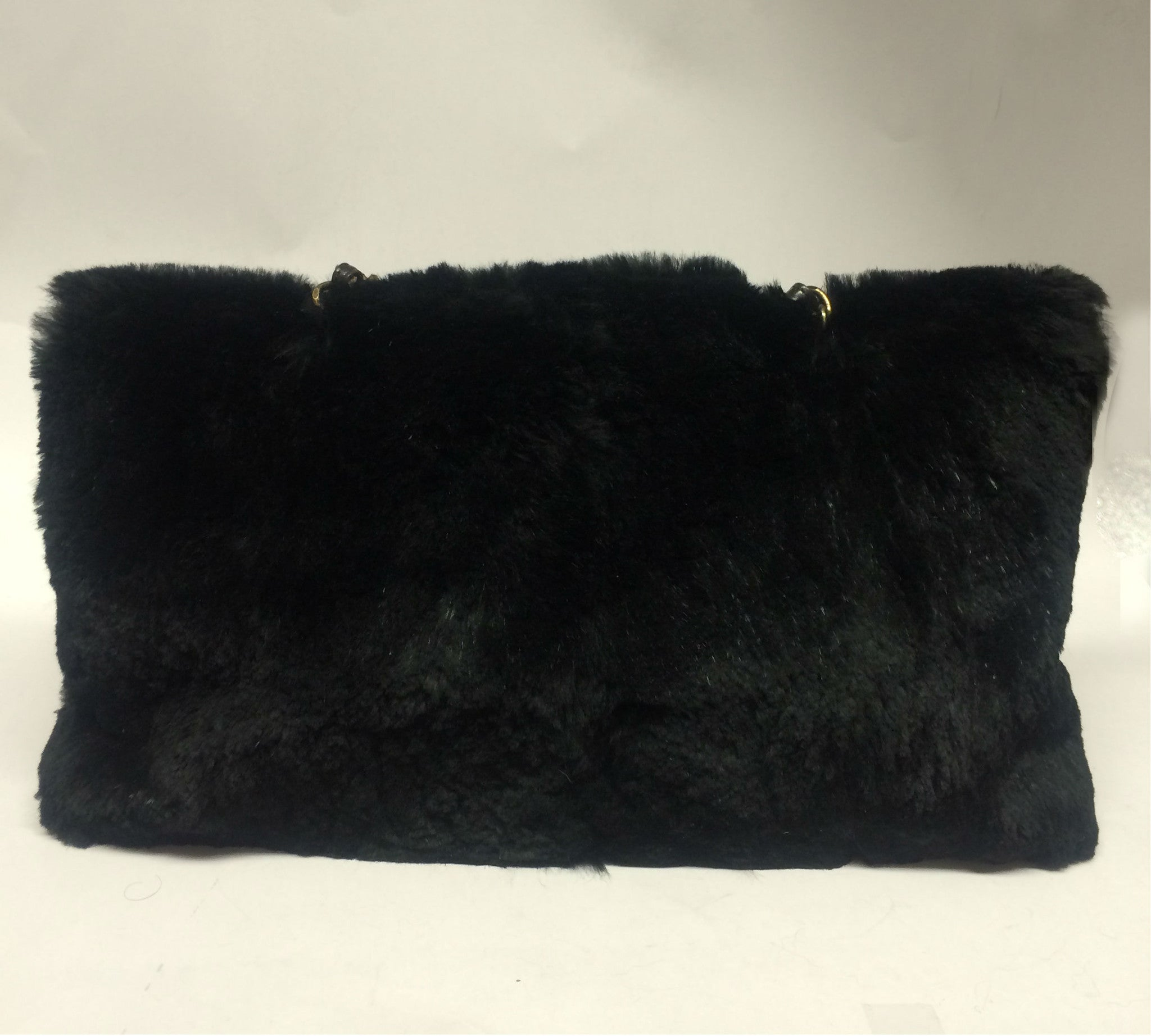 Chanel Black Rabbit Fur Bag - Encore Consignment - 2