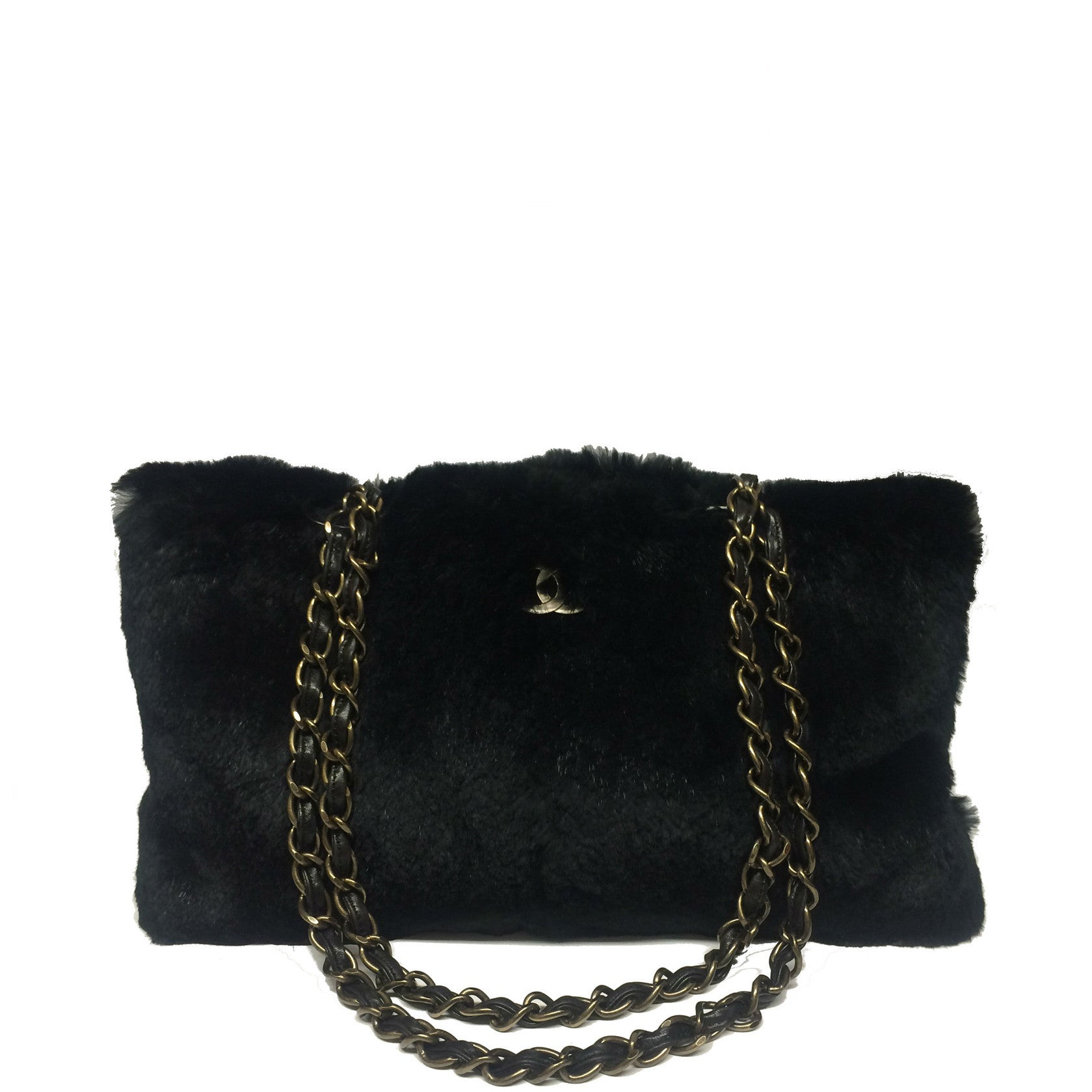 Chanel Black Rabbit Fur Bag - Encore Consignment - 10