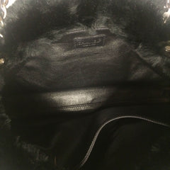 Chanel Black Rabbit Fur Bag - Encore Consignment - 6