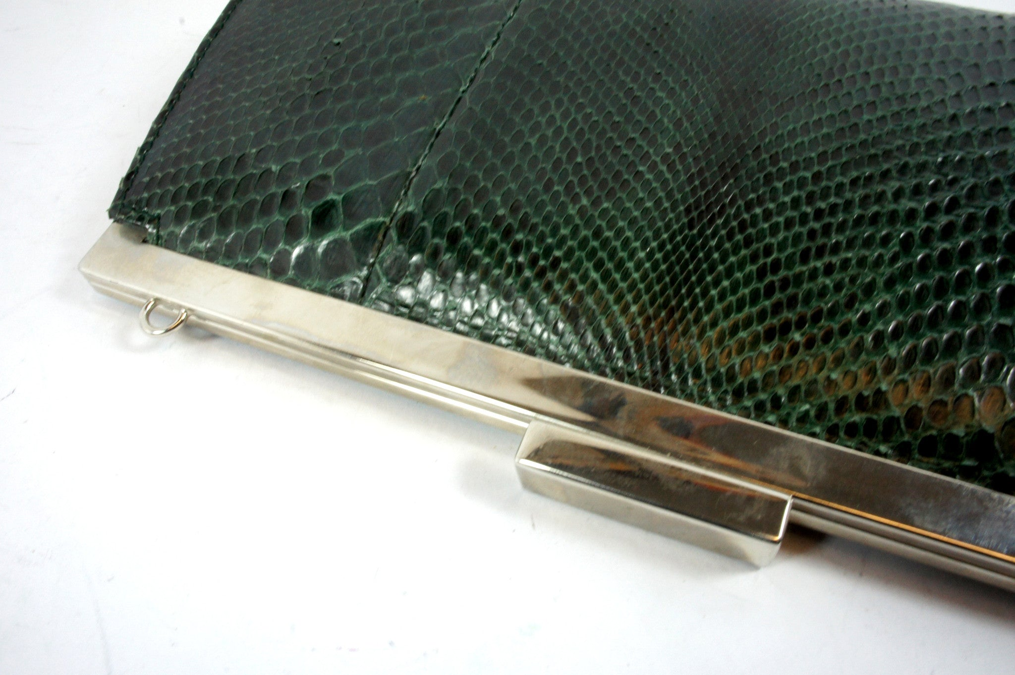 Gucci Snakeskin Green Clutch - Encore Consignment - 5
