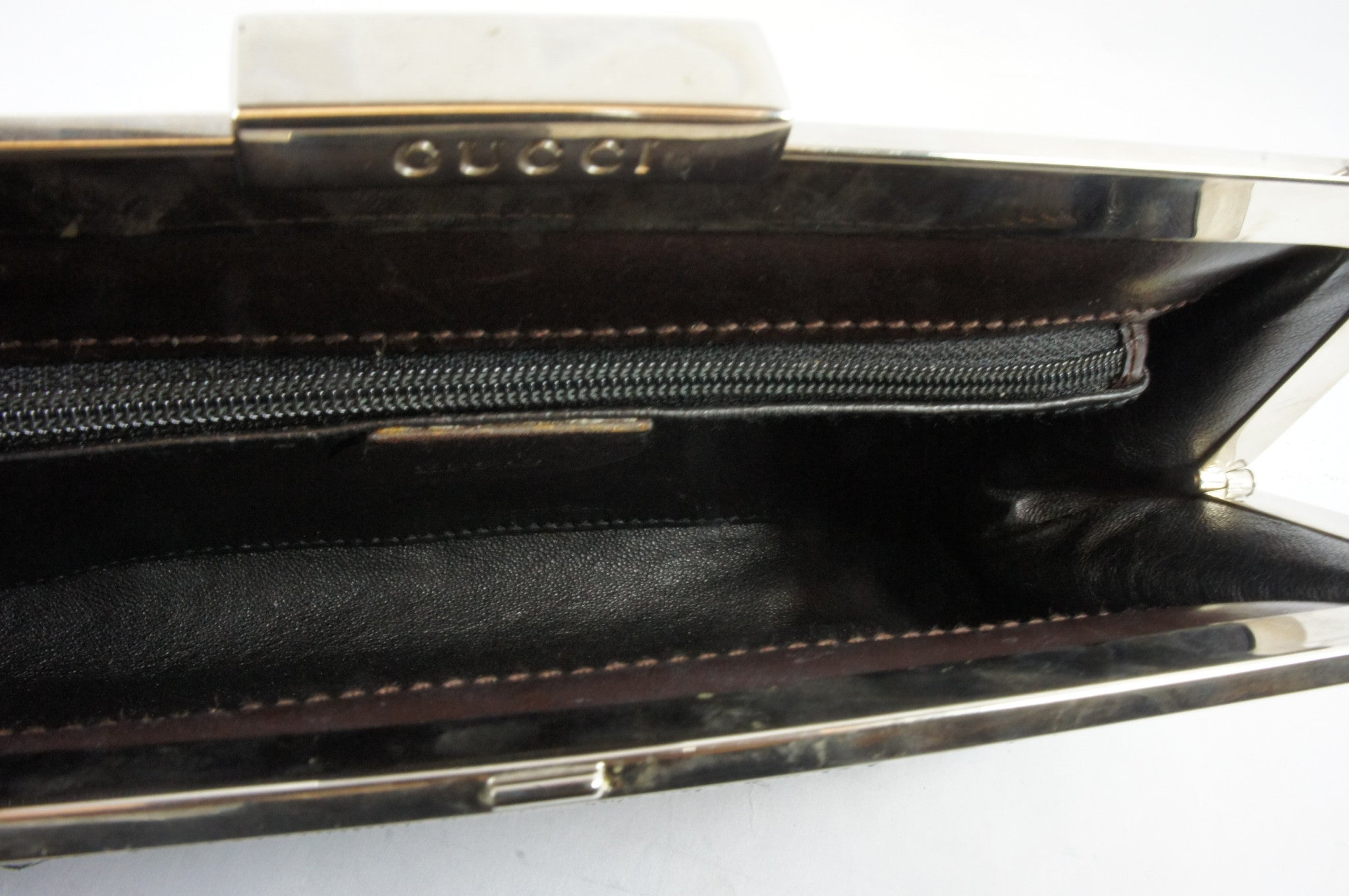 Gucci Snakeskin Green Clutch - Encore Consignment - 6
