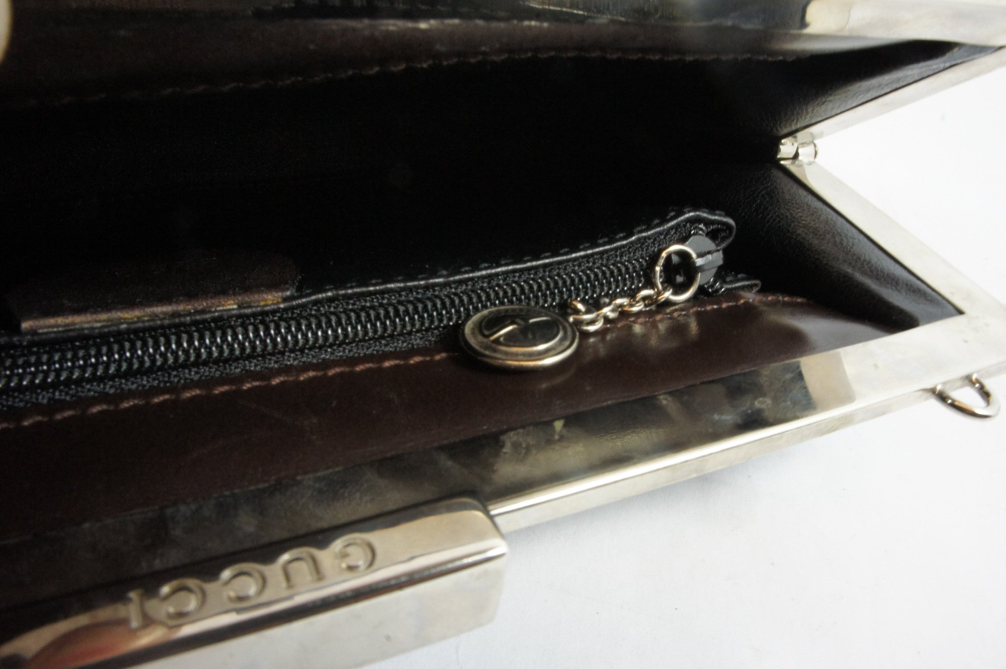 Gucci Snakeskin Green Clutch - Encore Consignment - 7