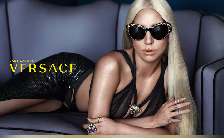 'Sold' Versace Oversized Cat Eye Tortoise Sunglasses w/ Studs By Lady Gaga