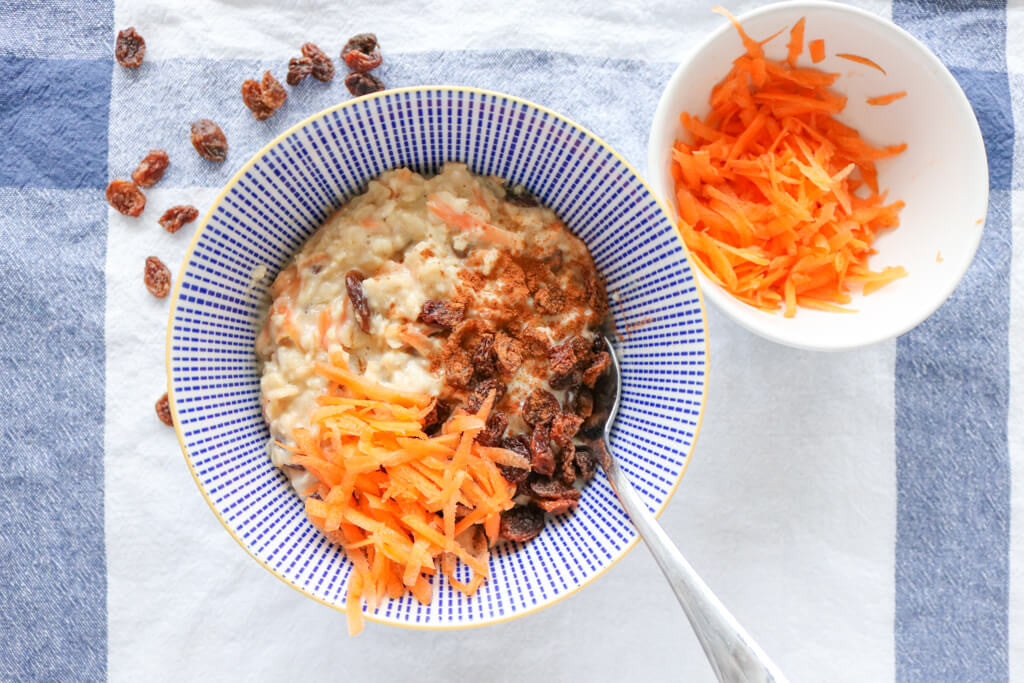 Carrot Cake Porridge | Dessert for Breakfast Series