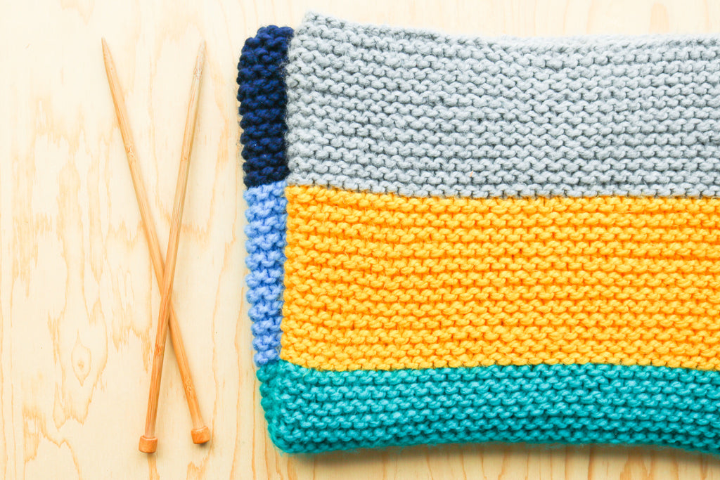 baby-knitted-blanket-chunky-yarn-how to knit a blanket