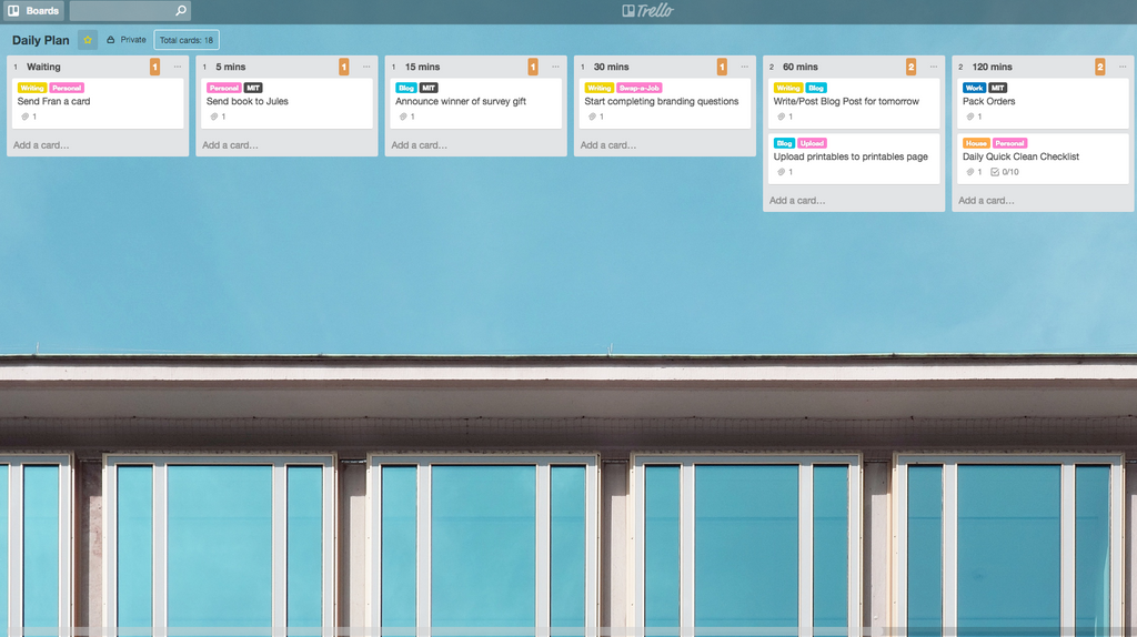 trello boards - productivity hacks