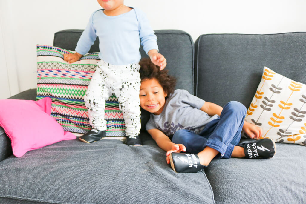 Why Brothers are the best - funny stories for mums - leggins and shoes from Born Bespoke