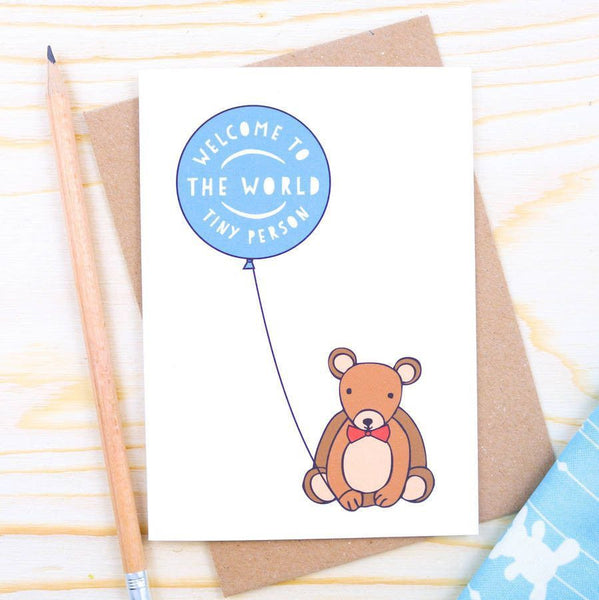 Card - New Baby Boy Bear Card