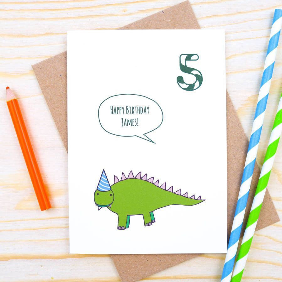 Card - Personalised Dinosaur Birthday Card