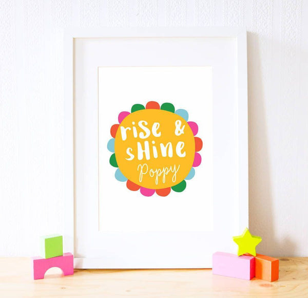 Card - Personalised Rise & Shine Print Yellow
