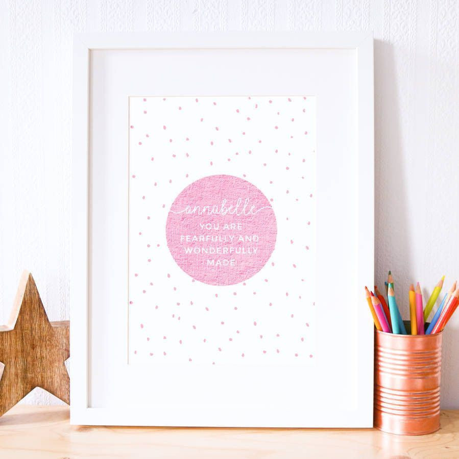 Card - Wonderfully Made Print
