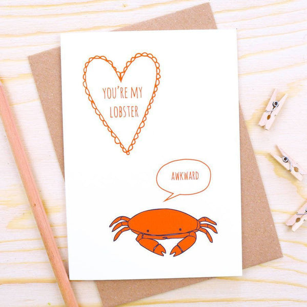 Card - 'You're My Lobster' Card