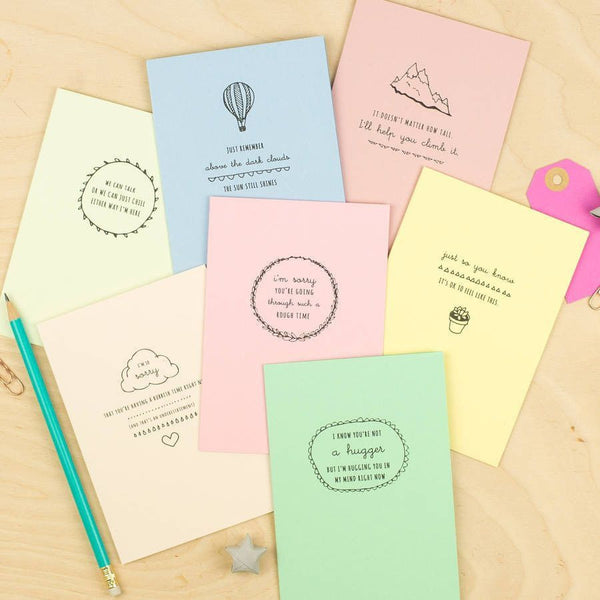 Encouragement Cards Seven Pack Pastels