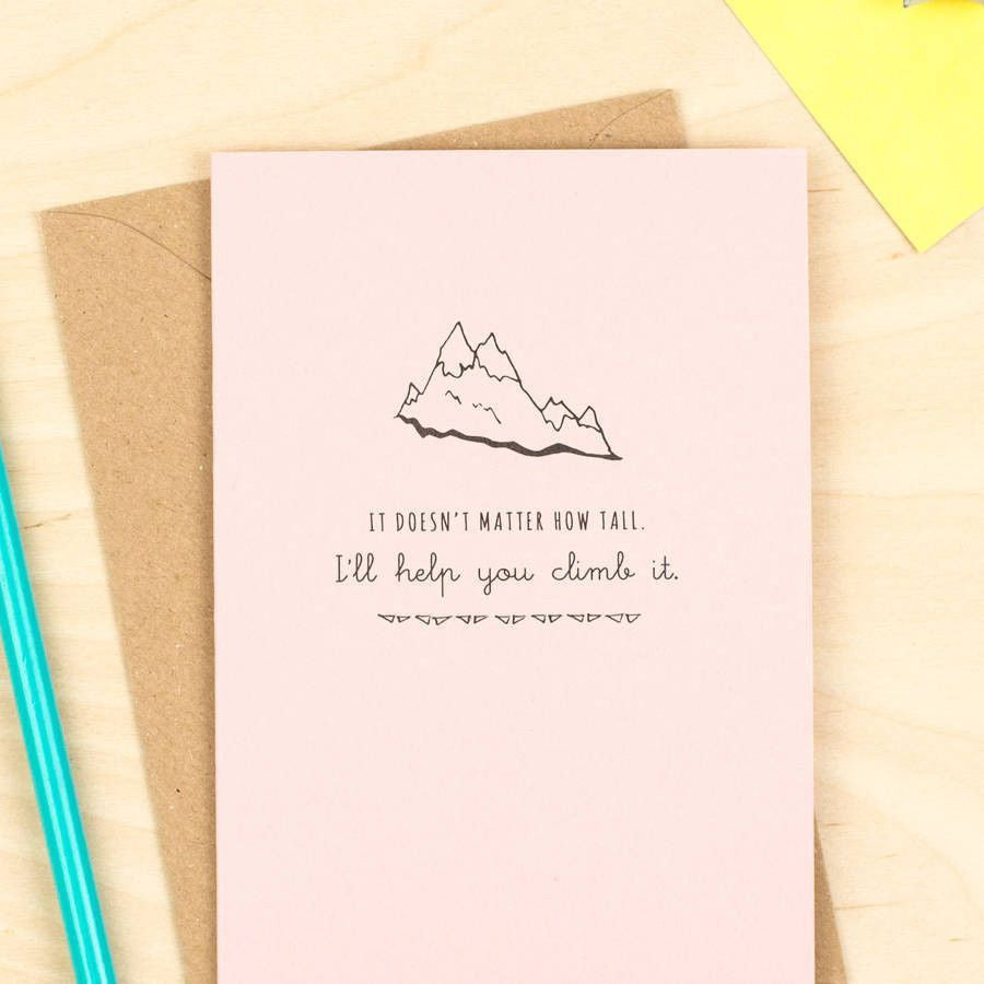 Help You Climb The Mountain' Card Pink