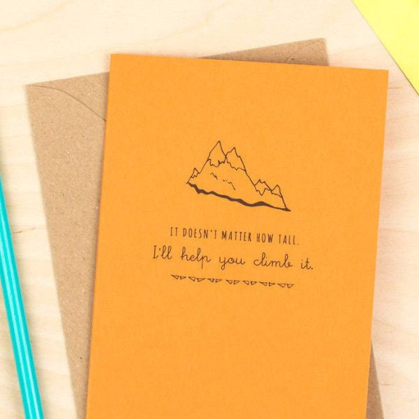Help You Climb The Mountain' Card -  - Delightful Note