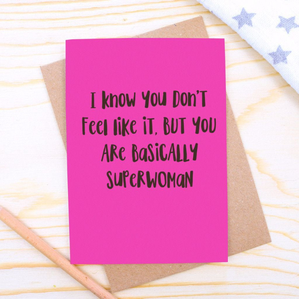 Superwoman Support Card
