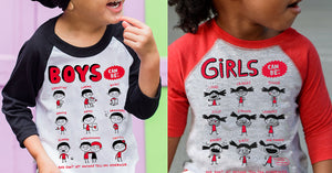 These kids' shirts smash gender stereotypes to smithereens.