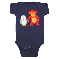 Owen & Orla Penguin Chimp Onesie by Jessy & Jack