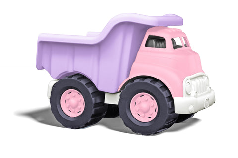 Pink and purple dump truck