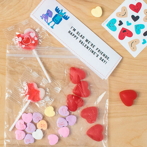 Emily & Ernie Free Printable Valentine Bag Toppers, Full Color