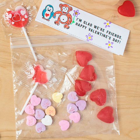 Owen & Orla Free Printable Valentine Treat Bag Toppers, Color Yourself Version