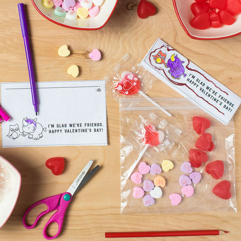 Vinny & Violet Free Printable Treat Bag Toppers Color Yourself Version
