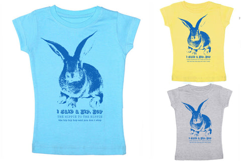 Free To Be Kids - Bunny Shirt for Boys or Girls - Toddler Girly Tee