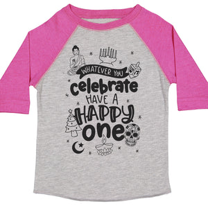 Whatever You Celebrate Kids Baseball Tee