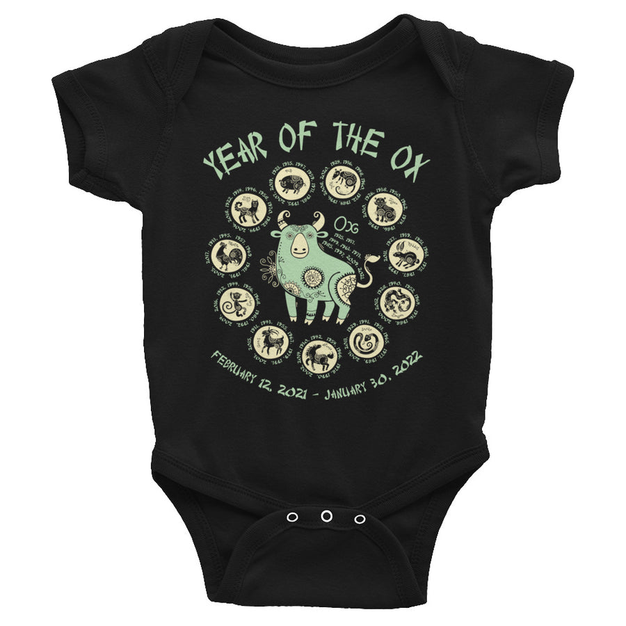 Year Of The Ox Lunar New Year Baby Onesie
