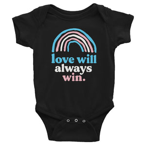 Love Will Always Win Trans Pride Flag Baby Onesie