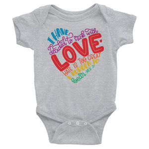 I Have Decided To Stick With Love (Rainbow Edition) Baby Onesie