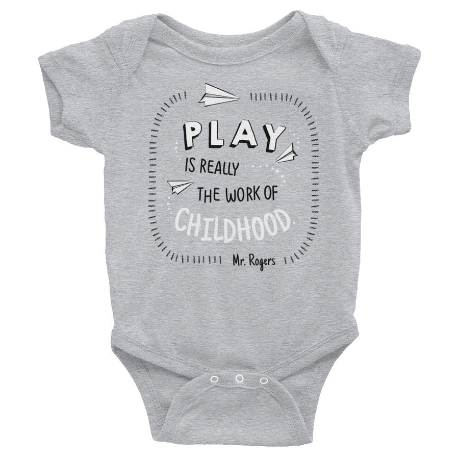 Mr. Rogers Play Is Really The Work Of Childhood Baby Onesie