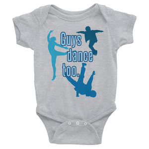 Guys Dance Too Baby Onesie