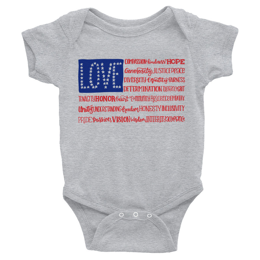America The Wonderful Baby Onesie