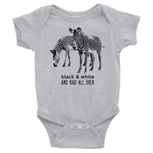 Black & White and Rad All Over Baby Onesie