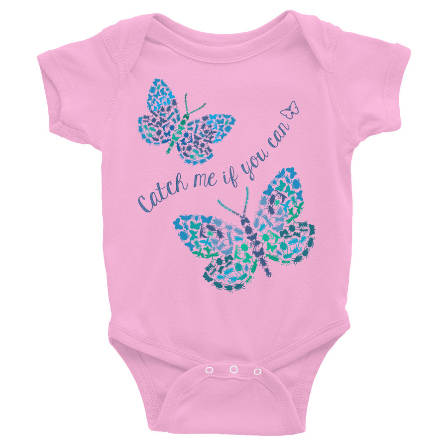 Catch Me If You Can Bugs And Butterflies Baby Onesie