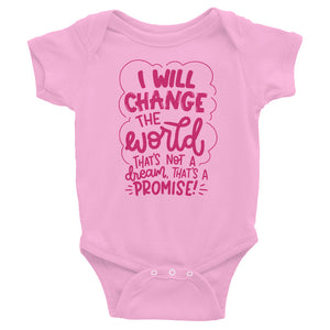 I Will Change The World Baby Onesie