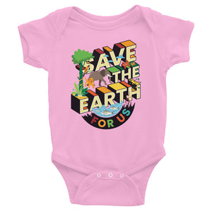 Save The Earth For Us Baby Onesie