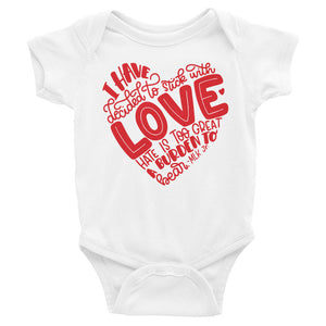 I Have Decided To Stick With Love (Valentines Day Edition) Baby Onesie