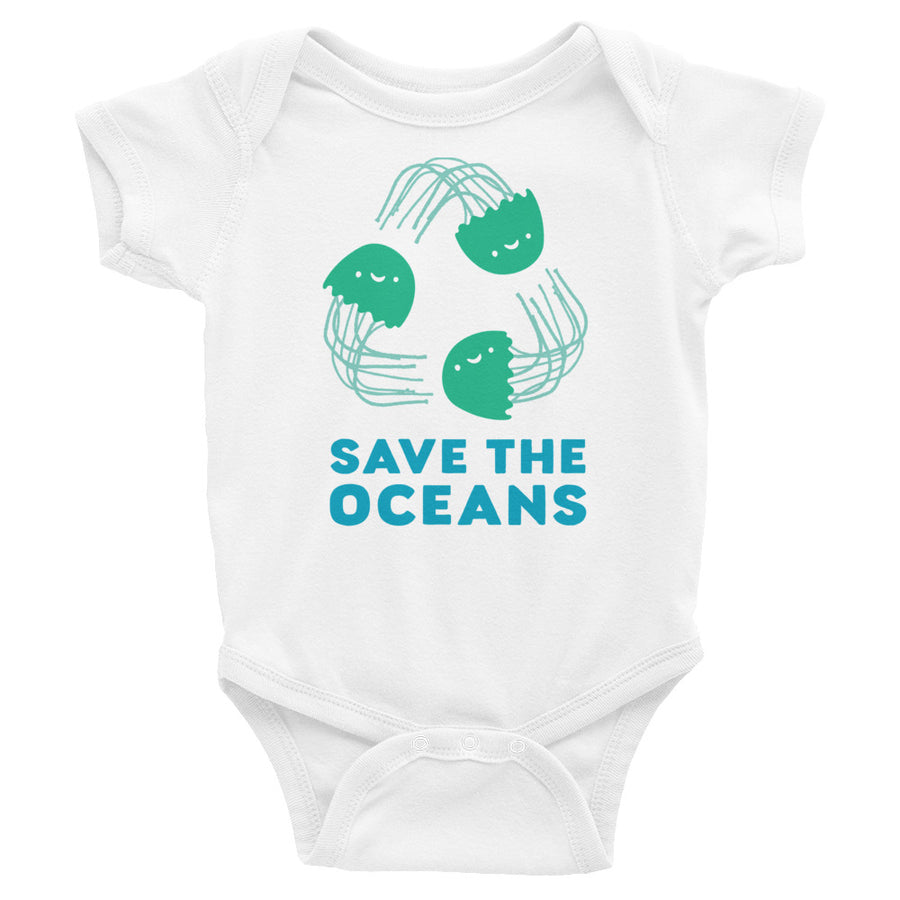 Save The Oceans Baby Onesie