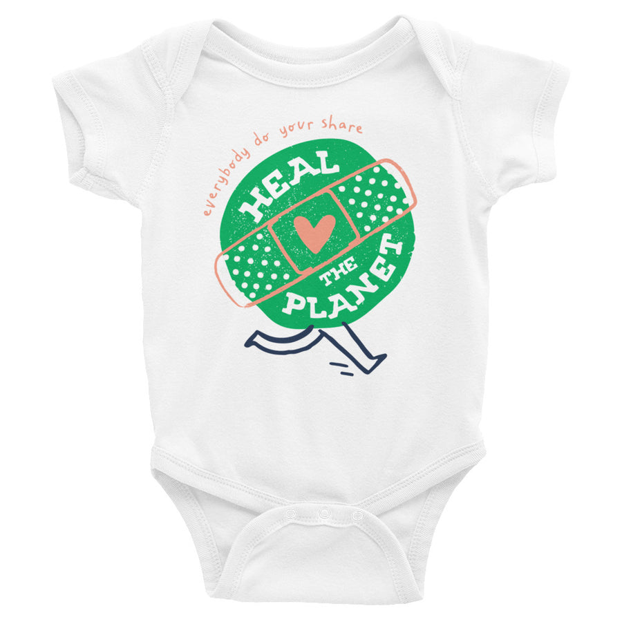 Heal The Planet Baby Onesie