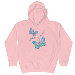 Catch Me If You Can Bugs And Butterflies Kids Hoodie