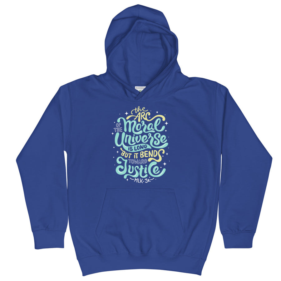 Arc Of The Moral Universe Kids Hoodie