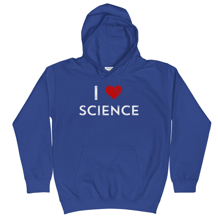 I Love Science Kids Hoodie