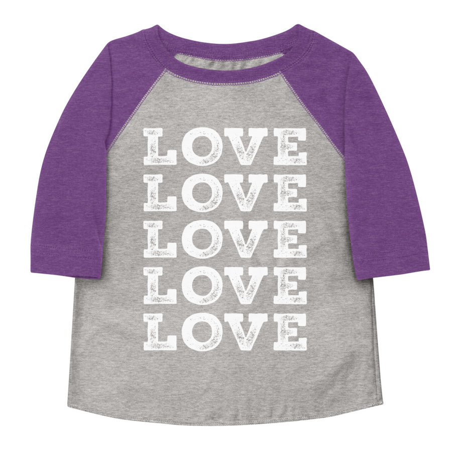 Love Love Love Love Love Toddler Baseball Tee
